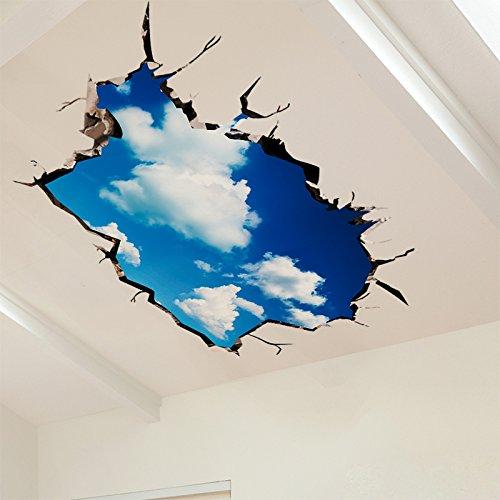 Creative 3D Stereo Schlafzimmer wand aufkleber selbstklebende Tapete von der Decke Bettzimmer Dekorationen der Himmel Sterne Aufkleber,105*60cm