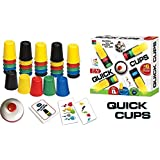 Quick Cups,Landor Quick Cups Games for Kids,Classic Stacking Cup Game for Kids Flying Stack Cup Parent-Child Interactive Game with 24 Picture Cards, 30 Cups