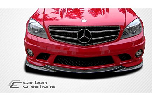 2008-2011 Mercedes Benz C Class W204 Carbon Creations L-Sport Front Spoiler Lip Splitter - 1 Piece