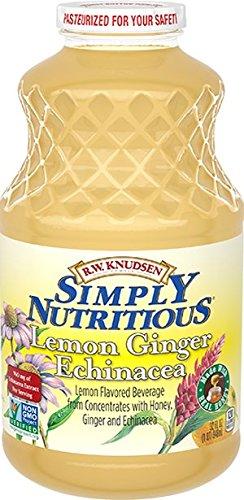 - R.W. Knudsen Lemon Ginger Echinacea Drink 32 oz (Pack of 2)