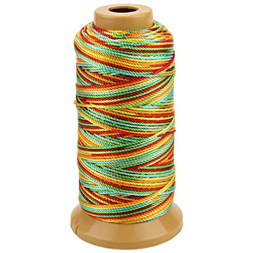 (328 Feet Twisted Nylon Line Twine String Cord for Gardening Marking DIY Projects Crafting Masonry (Colourful, 1.5mm-328 feet))