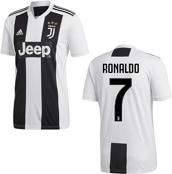 Adidas Camiseta Juventus de Turín temporada 2018-2019, primera equipación, con el nombre de Ronaldo y el número 7, disponible para adultos y niños: Amazon.es: Deportes y aire libre
