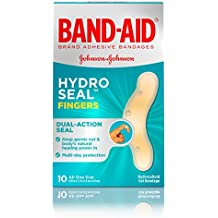 Band-Aid Brand Hydro Seal Waterproof Adhesive Bandages for Finger Cuts, Scrapes and Blisters, 10 ct