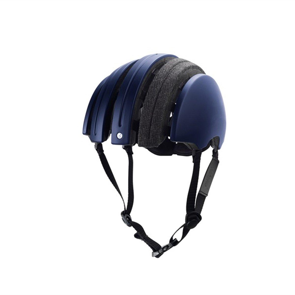 Brooks England Carrera - J.B. Collection - Foldable Helmet Dark Blue/Grey Tartan, M