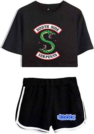 Conjunto de Dos Piezas Crop Top + pantalón Corto Mujer Riverdale ...