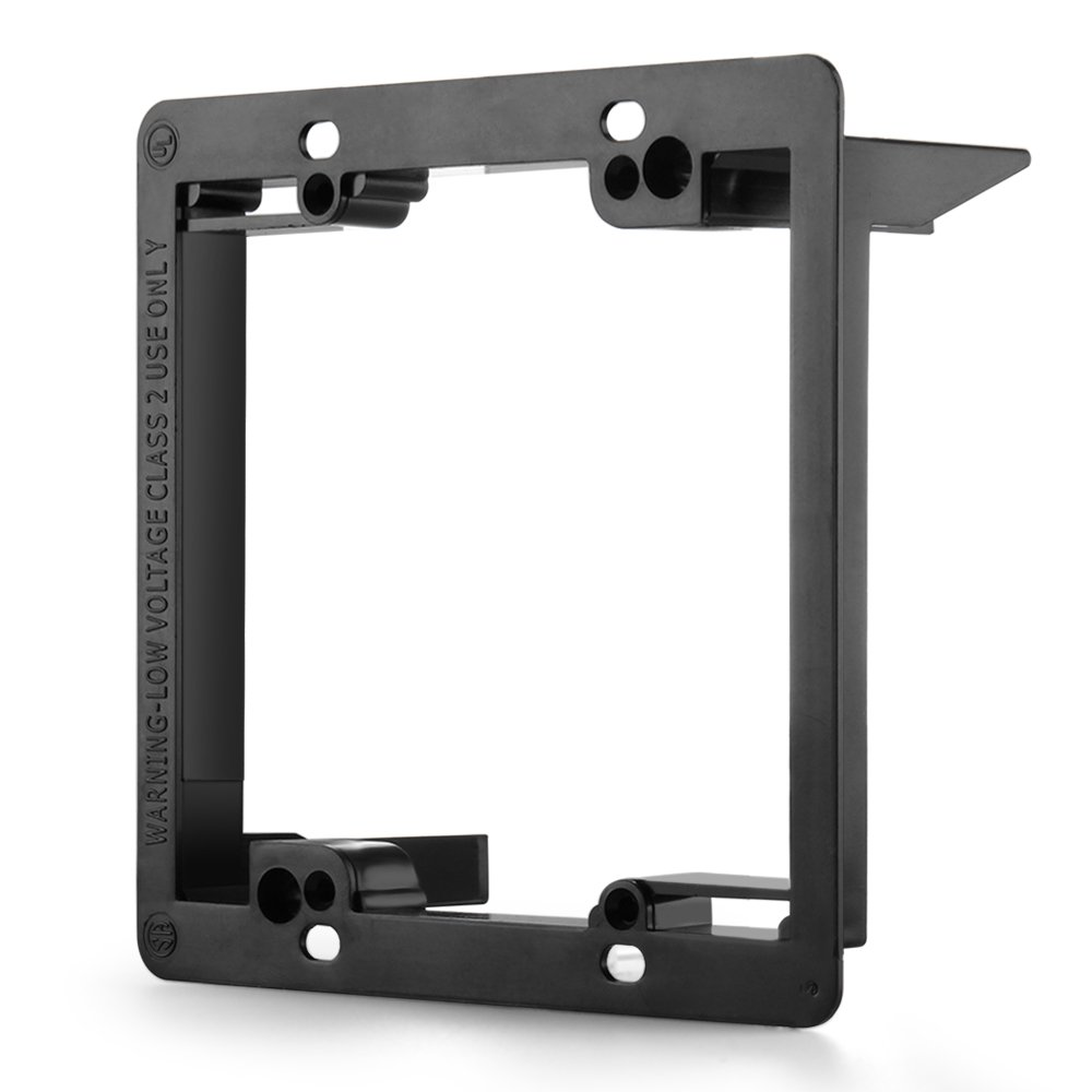 TNP Low Voltage Mounting Bracket, Horizontal/Vertical, Black (2 Gang (5 Pack)) by TNP Products (Image #2)