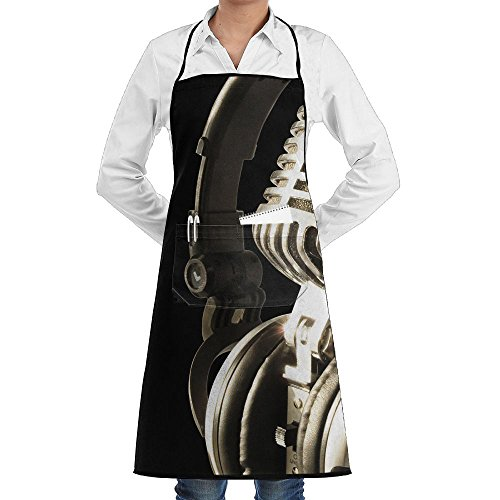 Love Music Microphone And Music Notes 7 Sewing Aprons With Pocket Kits Adjustable Home Kitchen Apron]()