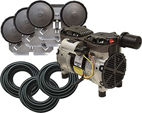 EasyPro PA66 Rocking Piston Pond Aeration System 1/2 HP Kit with Tubing by EasyPro Pond Products
