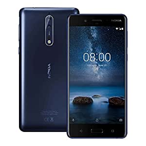 Nokia 8 (TA-1052) 4GB / 64GB 5.3-inches 4G LTE Dual SIM Factory Unlocked - International Stock No Warranty (Tempered Blue)