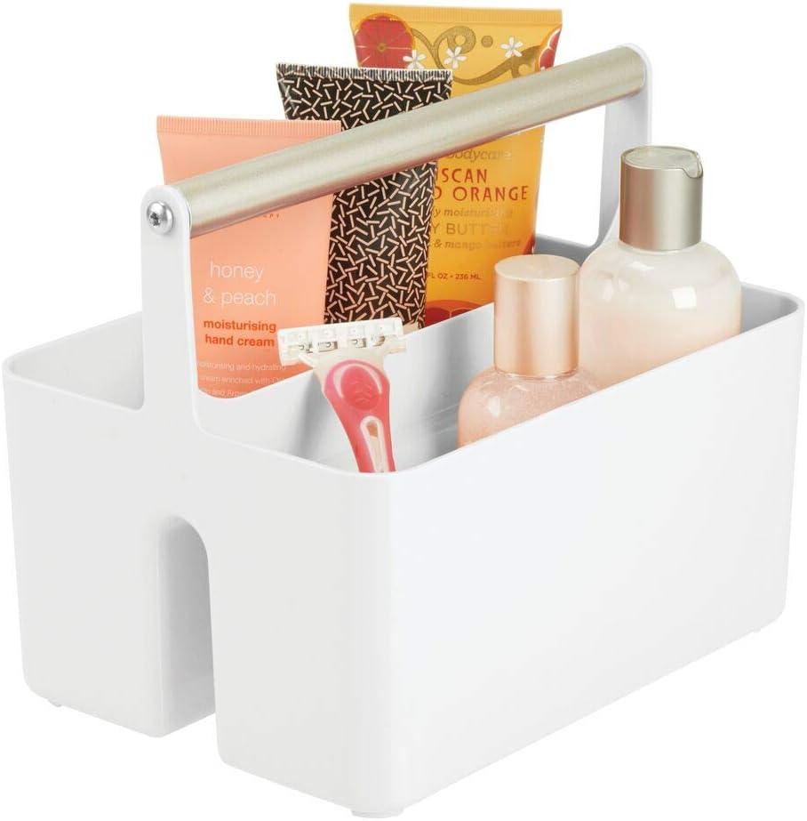 Bad Organizer mit zwei Fächern mDesign Badezimmer Aufbewahrungsbox ...