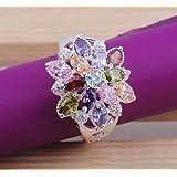 Nice hot round cut topaz gemstone 925 Silver ring (7)