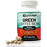 Pure Green Coffee Bean Extract - Natural GCA Antioxidant Cleanse for Weight Loss, 800mg w/ 50% Chlorogenic Acid per Pill, 1600mg Daily Supplement, Healthy Fatburner