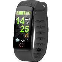 Lucun Monitor de Fitness en Color, Reloj con Monitor de Ritmo cardíaco, Monitor de Actividad a Prueba de Agua IP67, Monitor de sueño, Reloj Deportivo Inteligente para niños, Mujeres y Hombres