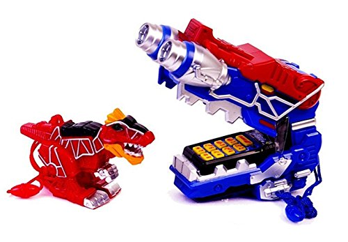 Power Rangers Dino Charge – Blue Morpher phone + T-REX Whistle + 5 cards set Various sounds & (Phone Cards Set)