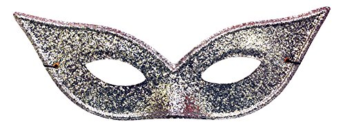 Lame Harlequin Mask - Harlequin Mask Lame Silver Halloween Costume - Most Adults