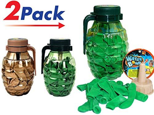 JA-RU Water Balloons Grenade (2 Pack) 75 Bombs Each and Hose Filler.   Item 182-2