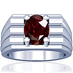 Oval Cut Platinum Ruby Solitaire Ring (GIA Certificate)