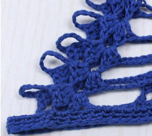 Moulantes Protection Contre Le Soleil Le Crochet Des Femmes Cromoncent Évider Ups Couverture En Tricot Robes Midi Bleu