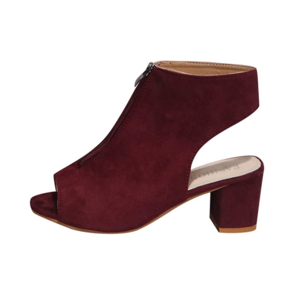Innerternet Damenmode Plus Size Sommer Schuhe Sandalen Peep
