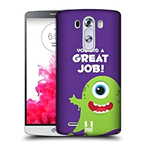 Head Case Designs Great Job Motivational Monsters Protective Snap-on Hard Back Case Cover for LG G3 D855 D850