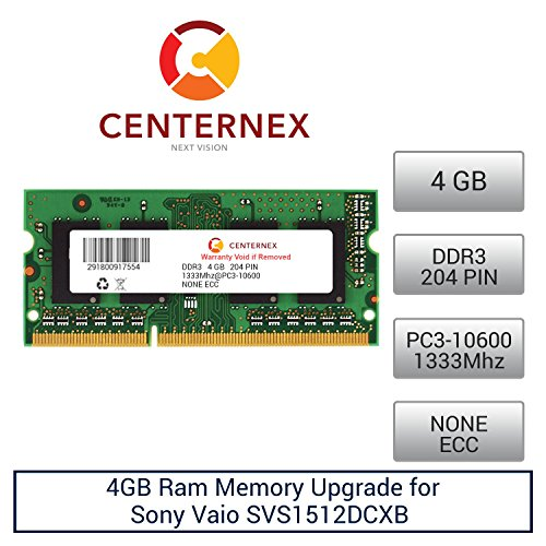 Click to buy 4GB RAM Memory for Sony Vaio SVS1512DCXB (DDR310600) Laptop Memory Upgrade by US Seller - From only $49.78