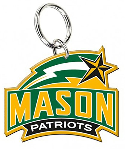 - WinCraft George Mason Patriots Premium Acrylic Key Ring/Zipper Pull, 2 x 1.75 inches
