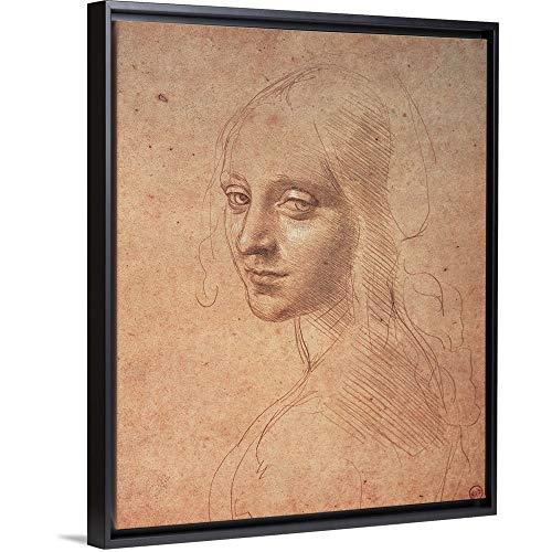 - Leonardo da Vinci Floating Frame Premium Canvas with Black Frame Wall Art Print Entitled Portrait of a Girl, by Leonardo da Vinci, 1483-1484. Royal Library, Turin, Italy 11