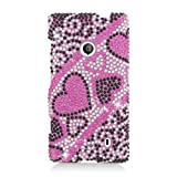 Eagle Cell PDNK521F384 RingBling Brilliant Diamond Case for Nokia Lumia 521 – Retail Packaging – Pink/Black Heart, Best Gadgets