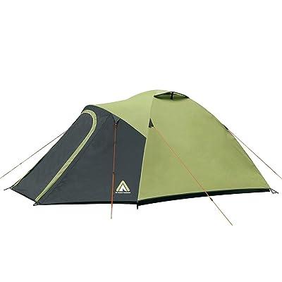 10T Outdoor Equipment Séville 3Tente, vert, 310x 230x 130cm