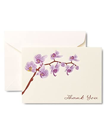 Amazon Com Gartner Studios Purple Orchid Thank You Cards 50 Count