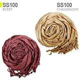 Coco Soft Crinkle Scarf Solid Color For All Season (CHAMPAGNE)