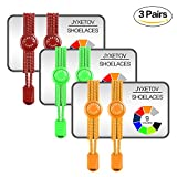 JYXETOV Elastic No Tie Shoelaces with Bonus (9 Colors, 1 Pair, 2 Pairs or 3 Pairs to Choose) for Adults, Kids, Seniors, Casual Shoes, Sneaker, Boots