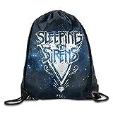 Drawstring Tote Backpack Bag Sleeping With Sirens