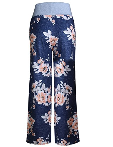 Aifer Women's Pajama Comfy Chic Floral Print Lounge Drawstring Palazzo Long Wide Leg Pants by Aifer (Image #4)