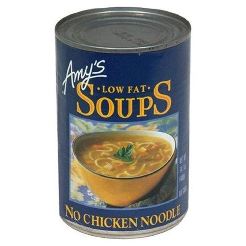 Amy's Organic Low Fat No Chicken Noodle Soup 14.1 OZ (Pack of 9)