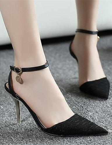GGX/ Damenschuhe-High Heels-Lässig-PU-Blockabsatz-Absätze-Schwarz / Mandelfarben black-us7.5 / eu38 / uk5.5 / cn38