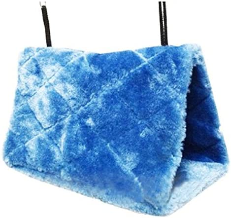 PIXNOR Bird Animal Plush Snuggle Hammock Hanging Snuggle Cave Happy Hut Hideaway – Size M Blue