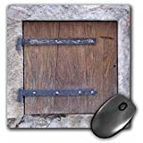 3dRose LLC 8 x 8 x 0.25 Inches Mouse Pad, Wooden Medieval Style Trap Door Photo Print, Offbeat Humor, Unusual Bizarre Humorous Fun (mp_157619_1)