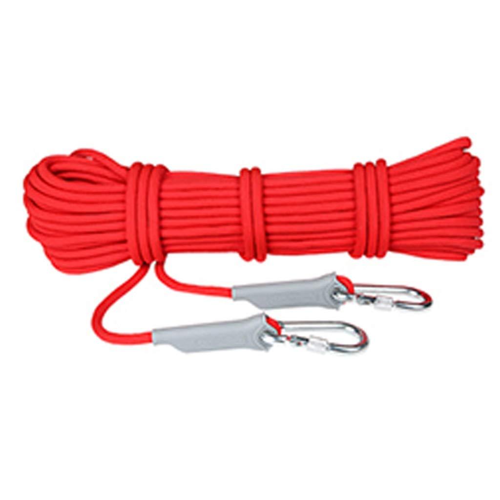 Rouge DLYDSS Corde d'escalade, Corde De Sécurité, Corde De Sauvetage en Plein Air, 12 MM, Matériau en Nylon, Escalade, Descente, équipement d'alpinisme 100m