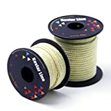 EMMAKITES 100~2000lb Braided Kevlar String Utility Cord Mason Line for Kite Bridle Fishing Camping Packing Creative Projects