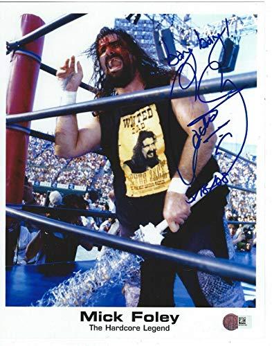 (Cactus Jack Signed Promo 8x10 Photo WWE Mick Foley - Autographed Wrestling Photos)