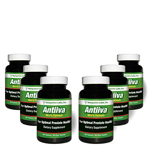 Hampshire Labs   Antiiva Men's Formula   Provides Optimal Prostate Support   Herbal Dietary Supplement   Reduce Frequent Urination   High Strength Beta Sitosterol Complex   360 Tablets/180 Day Supply Review