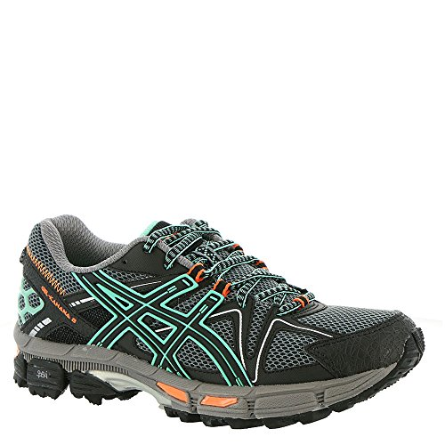 ASICS Women's Gel-Kahana 8 Running Shoe, Black/Ice Green/Hot Orange, 8 Medium US