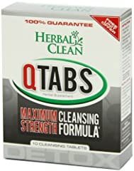 Herbal Clean Detox QTabs Maximum Strength Cleansing Formula. Description: Herbal Clean QTabs is the most potent detox formula available in tablets and is often chosen for its effectiveness, portability and convenience. Today's lifestyles incl...