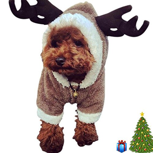 Amazon.com : Pet Dog Clothes Christmas Costumes Jacket Cute Elk Christmas Santa White Sheep For Teddy, Yorkshire Terrier, Chihuahua, Pomeranian, Etc, C, ...