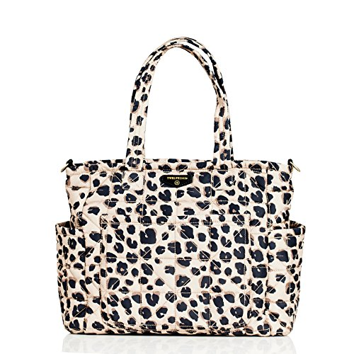 Leopard Quilted Tote - TWELVElittle Carry Love Tote Diaper Bag, Leopard