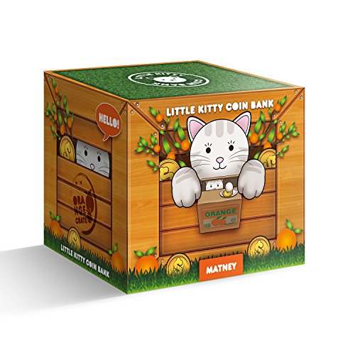 Matney stealing coin cat box piggy bank white kitty english speaking desertcart - Coin stealing cat piggy bank ...