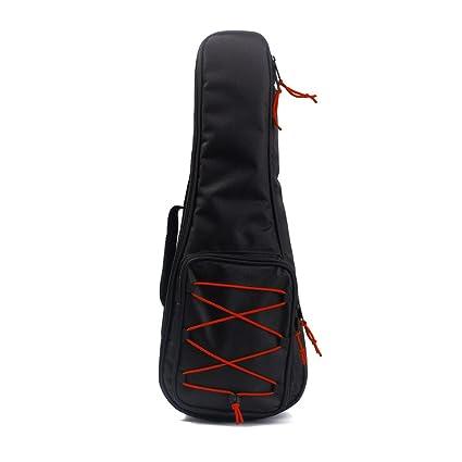 ULTNICE Estuche para Guitarra de 24 pulgadas Funda guitarra correas acolchadas tipo mochila (negro)