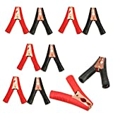 Insulated Alligator Clips Durable Heavy Duty Black & Red Boot Metal Spring Loaded Truck Car Battery Electric Test Clips Lead Probe Alligator Clamps (100A 10-PACK)