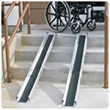 Brigg Healthcare 5' Telescoping Wheelchair Ramp with Carry Bag Ramp